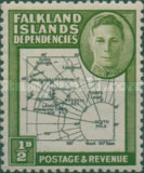 [King George VI - Map of Falkland Islands, type A]