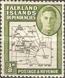 [King George VI - Map of Falkland Islands, type A1]