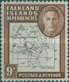 [King George VI - Map of Falkland Islands, type A14]