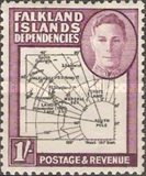 [King George VI - Map of Falkland Islands, type A17]