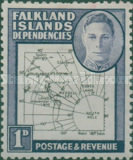 [King George VI - Map of Falkland Islands, type A2]