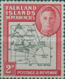 [King George VI - Map of Falkland Islands, type A4]