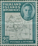 [King George VI - Map of Falkland Islands, type A6]