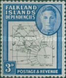 [King George VI - Map of Falkland Islands, type A8]