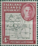 [King George VI - Map of Falkland Islands, type A9]