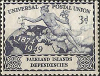 [The 75th Anniversary of the Universal Postal Union, type F]