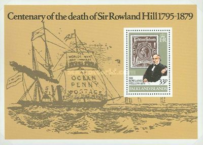 [The 100th Anniversary of the Death of Sir Rowland Hill, 1795-1879, type ]
