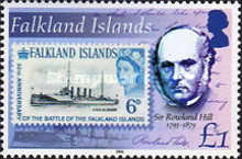 [The 125th Anniversary of the Death of Sir Rowland Hill, Postal Reformer, 1795-1879, Typ AFG]