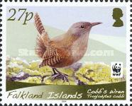 [WWF - Birds, Cobb's Wren. White Frame, type ALT]