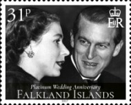 [The 70th Anniversary of the Wedding of Queen Elizabeth II and Prince Philip, Typ AVA]