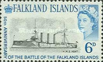 [The 50th Anniversary of Battle of the Falkland Islands, type CG]