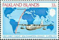 [The 26th Anniversary of First Direct Flight, Southampton-Port Stanley, Typ GR]