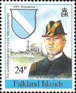 [The 75th Anniversary of the Battle of the Falkland Islands and the 50th Anniversary of Battle of the River Plate, Typ QA]