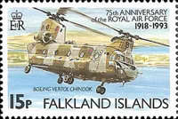 [The 75th Anniversary of Royal Air Force, type SQ]