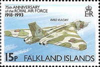 [The 75th Anniversary of Royal Air Force, type SR]