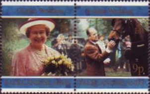 [The 50th Anniversary of the Wedding of Queen Elizabeth II and Prince Philip, Typ WW]