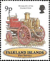 [The 100th Anniversary of Falkland Islands Fire Service, type XJ]
