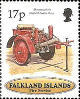 [The 100th Anniversary of Falkland Islands Fire Service, type XK]