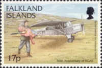 [The 50th Anniversary of Falkland Islands Government Air Service, type YK]