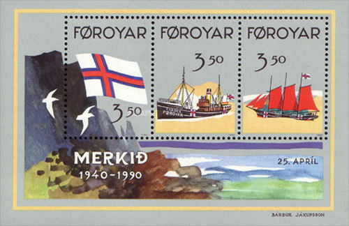 [The 50th Anniversary of the Faroese Flag, type ]