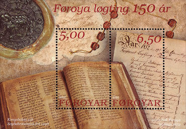 [The 150th Anniversary of the Re-establisment of the Faroese Parliament, type ]