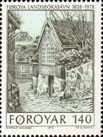 [The 150th Anniversary of the Public Library in Torshavn, type AC]