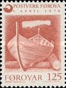 [Introduction of the Financially Independent Postverk Føroya, type J]