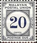[Postage Due Stamps - Different Perforation, type B24]