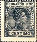 [King Alfonso XIII - Blue Control Number on Back Side, type AI]