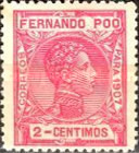 [King Alfonso XIII - Blue Control Number on Back Side, type AI1]