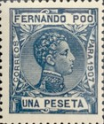 [King Alfonso XIII - Blue Control Number on Back Side, type AI10]