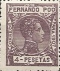 [King Alfonso XIII - Blue Control Number on Back Side, type AI13]