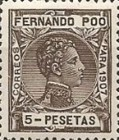 [King Alfonso XIII - Blue Control Number on Back Side, type AI14]