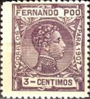 [King Alfonso XIII - Blue Control Number on Back Side, type AI2]