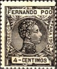 [King Alfonso XIII - Blue Control Number on Back Side, type AI3]