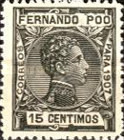 [King Alfonso XIII - Blue Control Number on Back Side, type AI6]