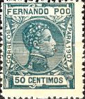 [King Alfonso XIII - Blue Control Number on Back Side, type AI8]