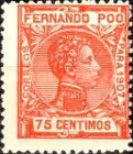 [King Alfonso XIII - Blue Control Number on Back Side, type AI9]
