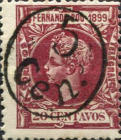 [King Alfonso XIII - No. 72 Surcharged, type T]