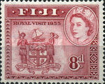 [Royal Visit - Issue of 1938 but with Portrait of Queen Elizabeth II and Overprinted