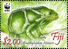 [WWF - Crested Iguana of Fiji, type ASV]