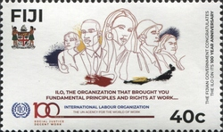 [The 100th Anniversary of the ILO - International Labour Organization, type AZO]
