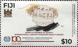 [The 100th Anniversary of the ILO - International Labour Organization, type AZR]