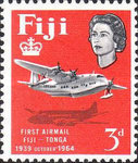 [The 25th Anniversary of 1st Fiji-Tonga Airmail Service, type CO]