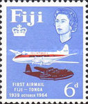 [The 25th Anniversary of 1st Fiji-Tonga Airmail Service, type CP]