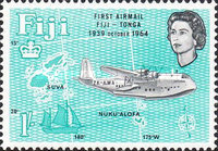 [The 25th Anniversary of 1st Fiji-Tonga Airmail Service, type CQ]