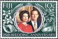 [The 25th Anniversary of the Wedding of Queen Elizabeth II and Prince Philip, type GW]