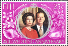 [The 25th Anniversary of the Wedding of Queen Elizabeth II and Prince Philip, type GW1]