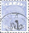 [Issues of 1879 & Not Issued Stamps Surcharged, type M]