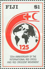 [The 125th Anniversary of the International Red Cross, type SH]